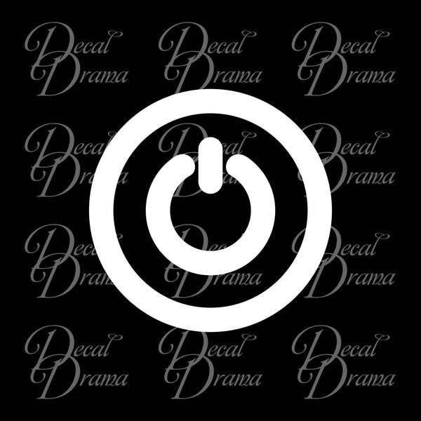 Power On Button Vinyl Car/Laptop Decal
