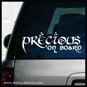 Precious on Board, Lord of the Rings-Inspired Fan Art Vinyl Decal