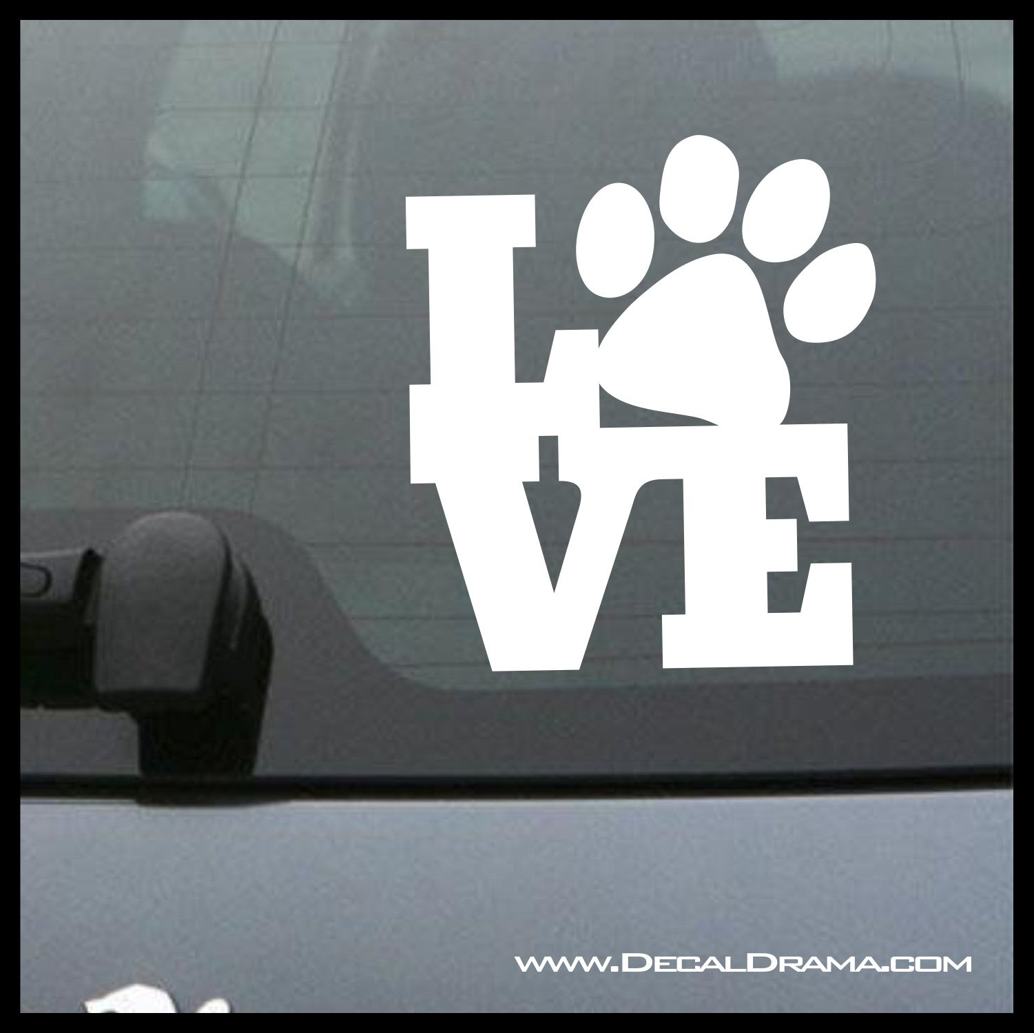 Puppy Love Dog Cat Pet Paw Print Vinyl Car/Laptop Decal