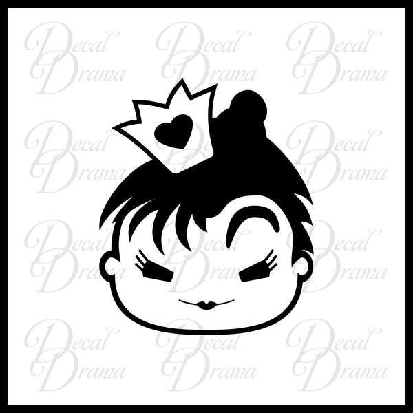 Queen of Hearts Chibi, Alice in Wonderland Villain Vinyl Car/Laptop Decal