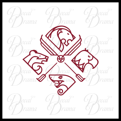 Quidditch House Cup, Harry-Potter-inspired Fan Art, Vinyl Car/Laptop Decal