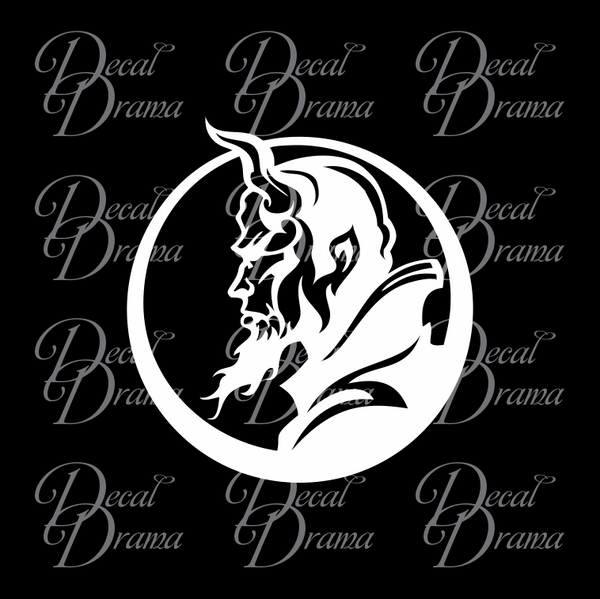 Red Devil Profile Vinyl Car/Laptop Decal