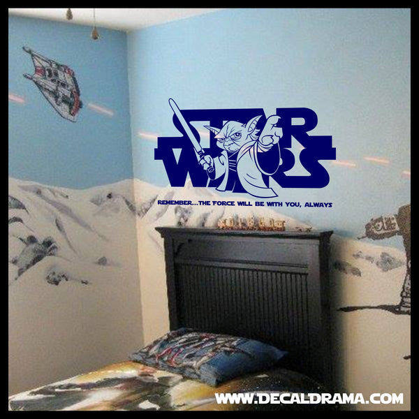 Remember, The Force Will Be With You, Always, Star Wars-Inspired Fan Art Vinyl Wall Decal