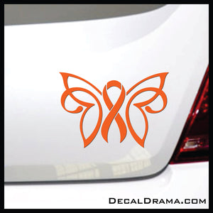Awareness Ribbon Butterfly Bow Vinyl Car/Laptop Decal