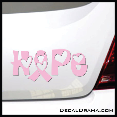 Awareness Ribbon Hope Hearts Vinyl Car/Laptop Decal