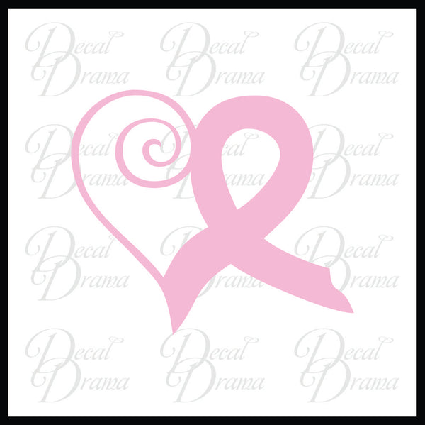 Awareness Ribbon Waving Heart Vinyl Car/Laptop Decal