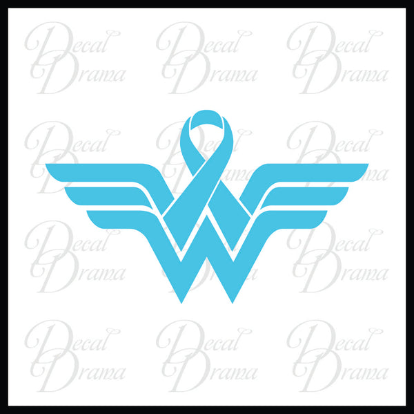 Awareness Ribbon Wonder Woman Vinyl Car/Laptop Decal