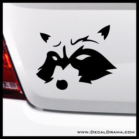 Rocket Raccoon, Guardians of the Galaxy-inspired Fan Art Vinyl Car/Laptop Decal