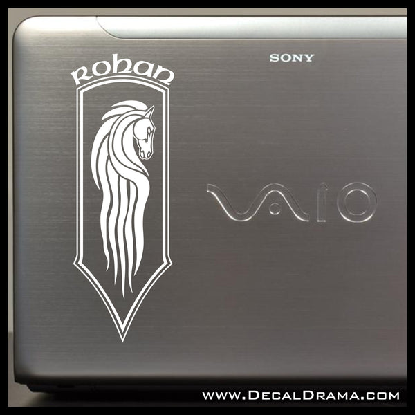 Horse Banner of Rohan, Lord of the Rings-Inspired Fan Art Vinyl Decal