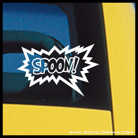 Spoon!, The Tick Comic Book and TV show Fan Art Vinyl Car/Laptop Decal