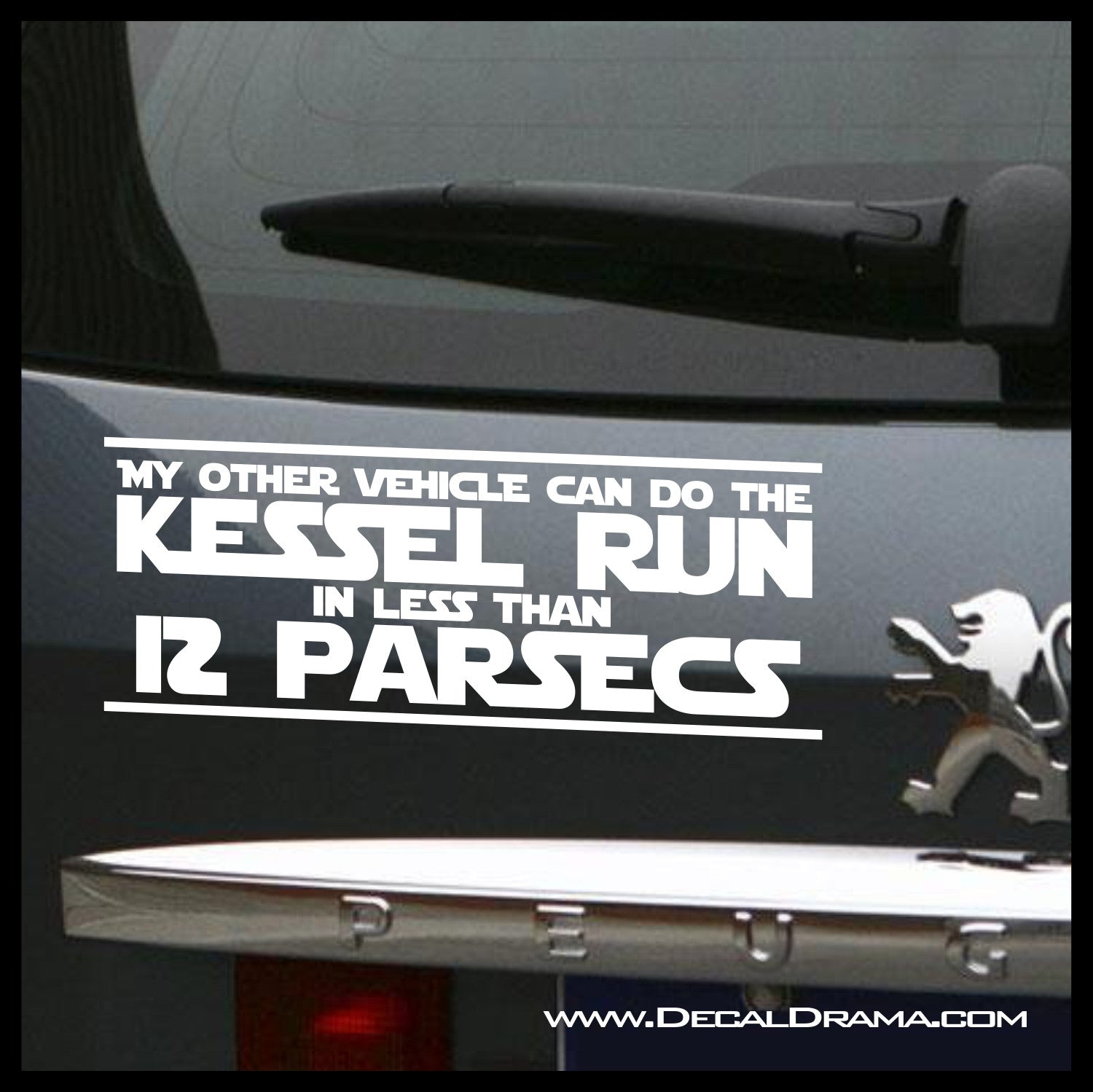 Kessel Run In Less Then 12 Parsecs, Star Wars-Inspired Fan Art Vinyl Wall Decal