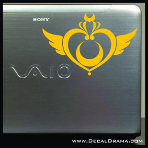 Sailor Moon Crisis Brooch emblem, Sailor Moon-inspired Vinyl Car/Laptop Decal