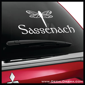 Sassenach with Dragonfly, Outlander-inspired Vinyl Car/Laptop Decal