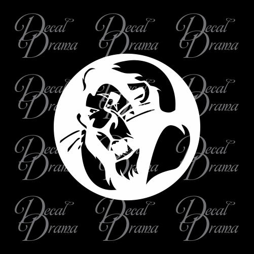 Scar Be Prepared, The Lion King Villain Vinyl Car/Laptop Decal