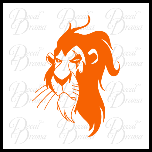 Scar Surrounded by Idiots, The Lion King Villain Vinyl Car/Laptop Decal