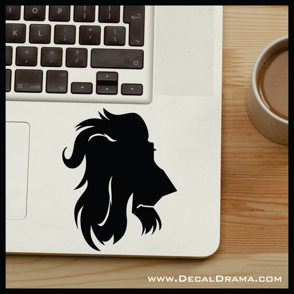 Scar silhouette, The Lion King Villain, Vinyl Car/Laptop Decal