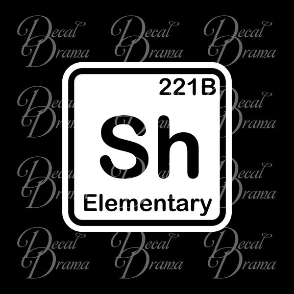 Sherlock Element BBC's Sherlock-inspired Fan Art Vinyl Car/Laptop Decal