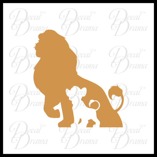 Simba Mufasa, Disney's Lion King-inspired Fan Art Vinyl Car/Laptop Decal