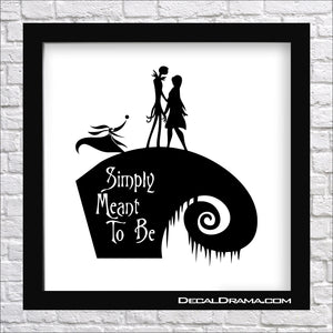 Simply Meant to Be, Nightmare Before Christmas-inspired Fan Art Vinyl Decal