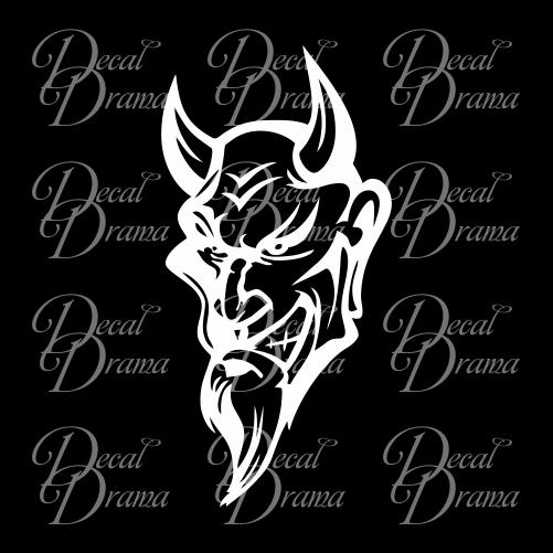 Smiling Red Devil Vinyl Car/Laptop Decal