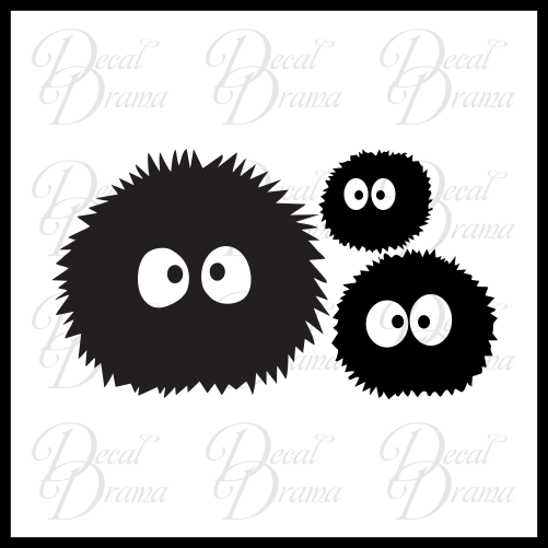 Soot Sprites Susuwatari, My Neighbor Totoro-inspired Vinyl Car/Laptop Decal