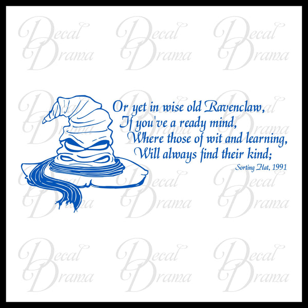 Ravenclaw, Sorting Hat Song, Harry-Potter-Inspired Fan Art Vinyl Wall Decal
