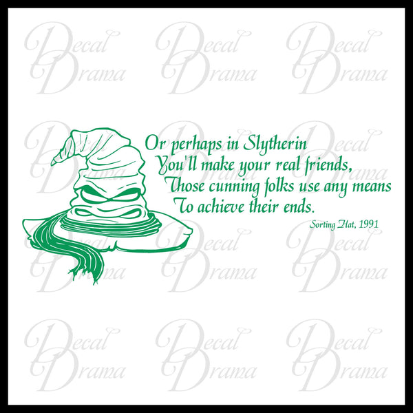 Slytherin, Sorting Hat Song, Harry-Potter-Inspired Fan Art Vinyl Wall Decal