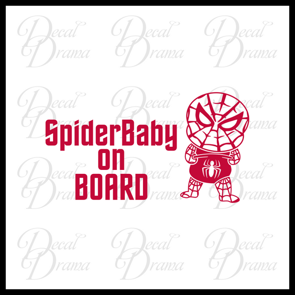 SpiderBaby on BOARD Baby Spiderman, Marvel Comics-Inspired Fan Art Vinyl Car/Laptop Decal