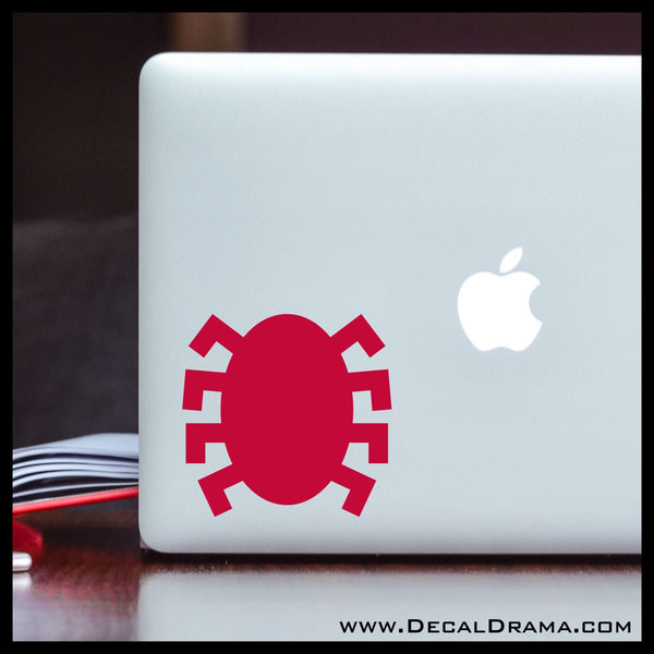 Spiderman Classic Back Spider symbol, Marvel Comics-inspired Vinyl Car/Laptop Decal