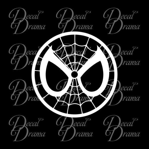 Spiderman Classic face logo, Marvel Comics-inspired Vinyl Car/Laptop Decal