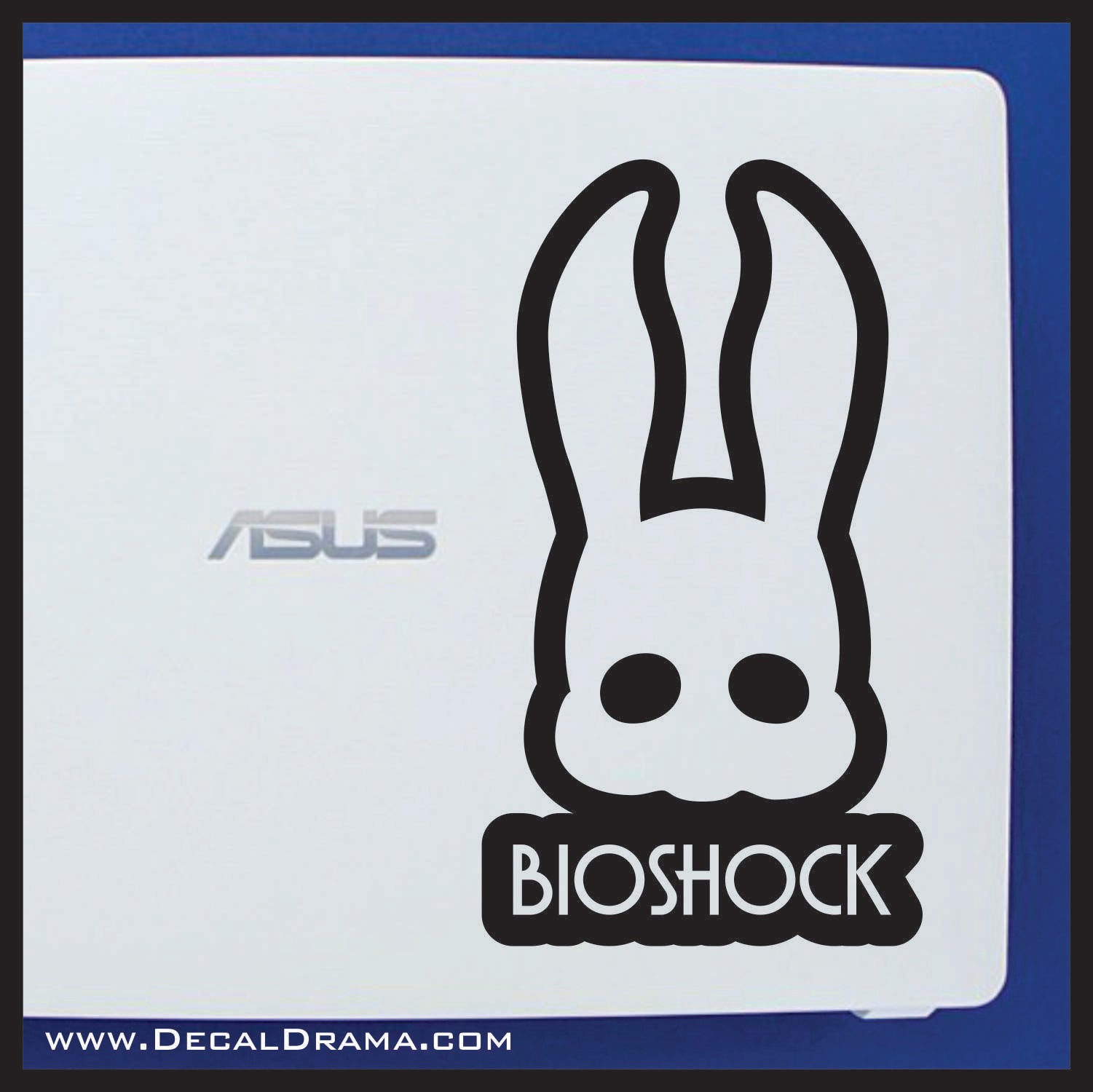 Splicer Bunny Masquerade Mask, Bioshock-inspired Vinyl Decal