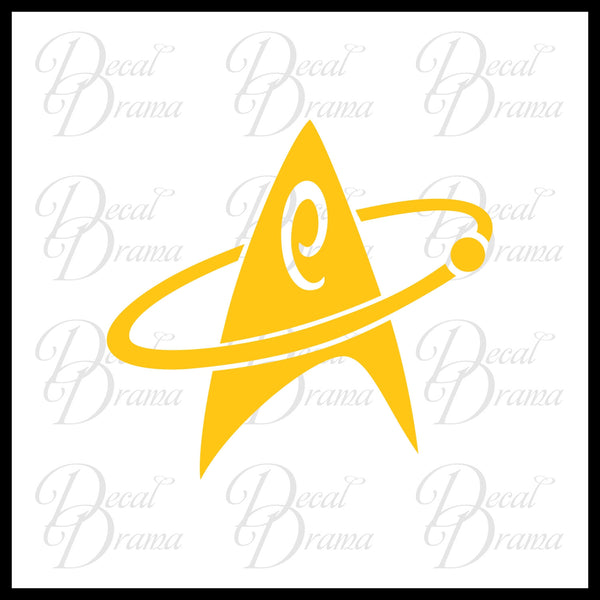 Star Trek Engineering Communicator insignia Vinyl Car/Laptop Decal
