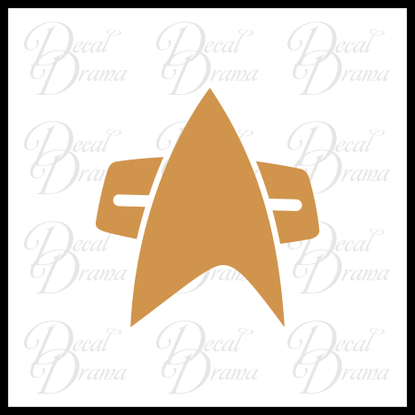 Star Trek Voyager Comm Badge insignia Vinyl Car/Laptop Decal