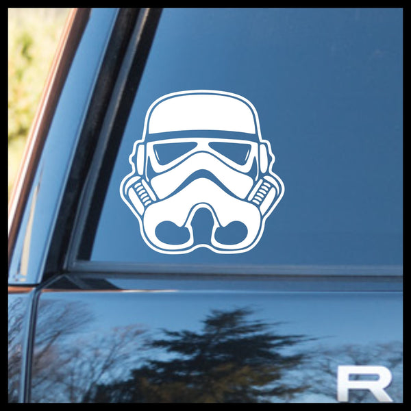 Stormtrooper Helmet, Star Wars-Inspired Fan Art Vinyl Wall Decal