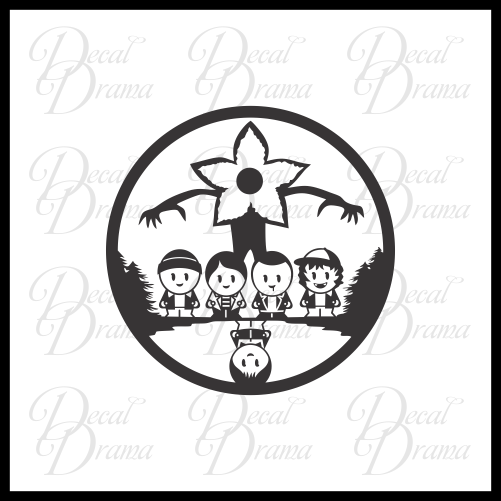 Stranger Things chibis Fan Art Vinyl Decal