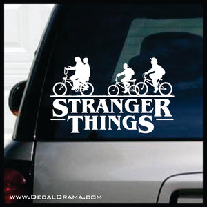 Stranger Things title with Bicycle Kids Fan Art Vinyl Decal