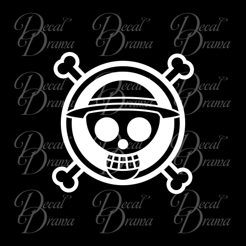 Straw Hat Pirates emblem, One Piece-inspired Vinyl Car/Laptop Decal
