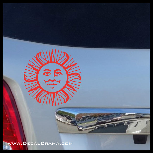 Sun Vinyl Car/Laptop Decal