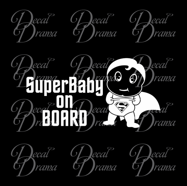 SuperBaby on BOARD with Baby Superman Fan Art Vinyl Car/Laptop Decal