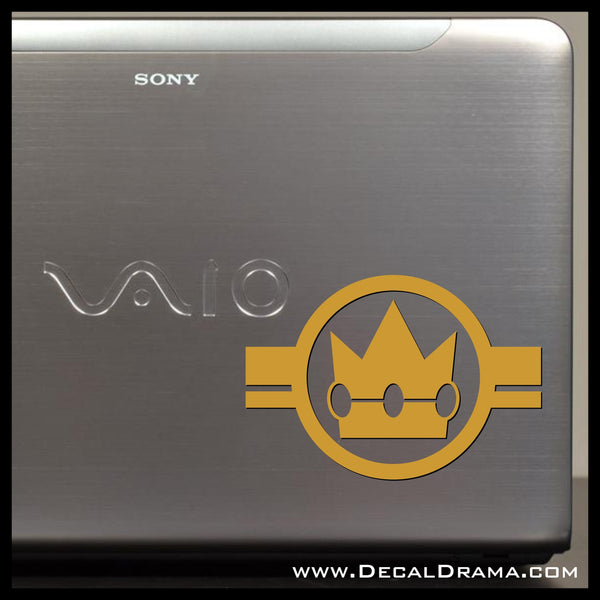 Princess Peach, Super Mario Bros video game-inspired Vinyl Car/Laptop Decal