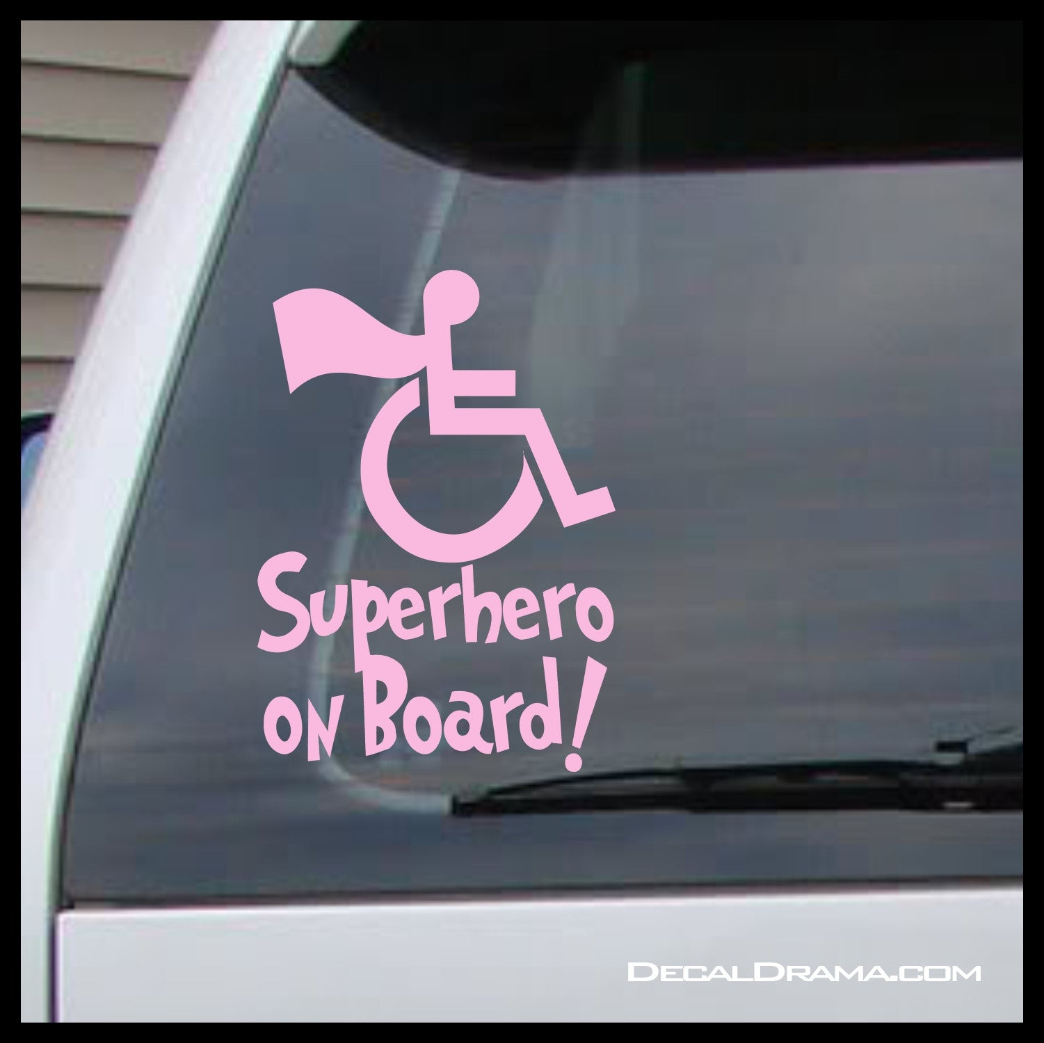 Superhero on Board! Vinyl Car/Laptop Decal