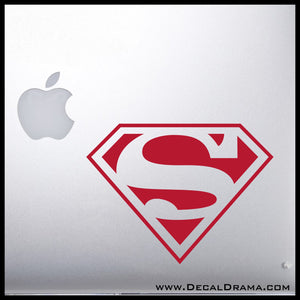 Superman Chest emblem, DC Comics-inspired Fan Art Vinyl Car/Laptop Decal