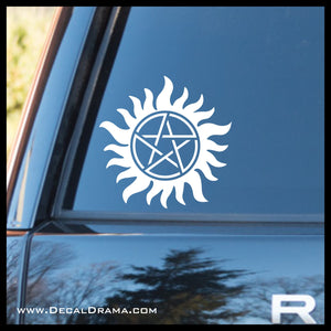 Anti-Possession symbol, TVs Supernatural-inspired Fan Art, Vinyl Car/Laptop Decal