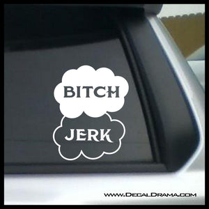 Bitch Jerk Mash-Up symbol, TVs Supernatural-inspired Fan Art, Vinyl Car/Laptop Decal