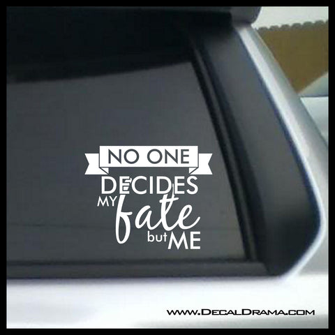 No One Decides My Fate but Me, TVs Supernatural-inspired Fan Art, vinyl car/laptop decal