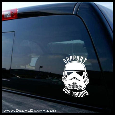 Support Our Stormtrooper Troops, Star Wars-Inspired Fan Art Vinyl Wall Decal
