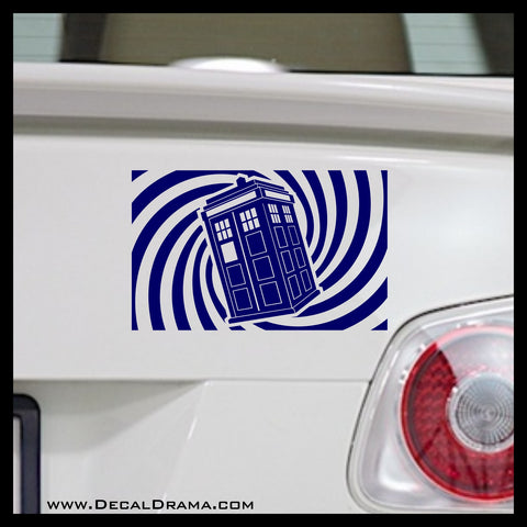 TARDIS Swirls Though Space & Time from Doctor Who Vinyl Car/Laptop Decal