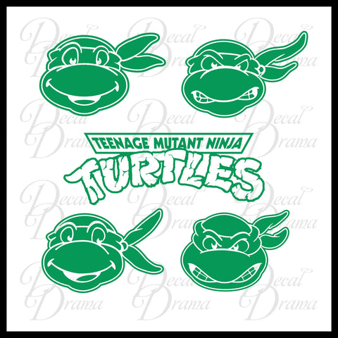 Teenage Mutant Ninja Turtles MEDIUM-SET Single-color Car/Laptop Decals