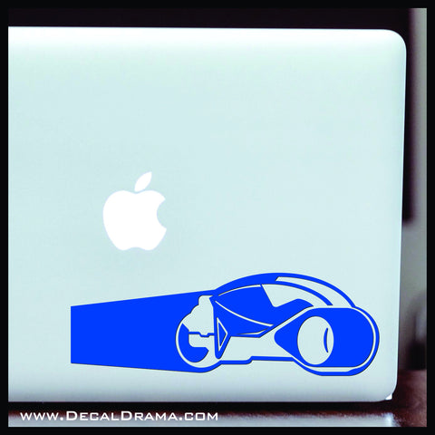 Light Cycle, TRON-inspired Fan Art Vinyl Car/Laptop Decal