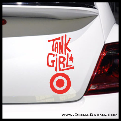 Tank Girl title, Titan Comics-Inspired Anti-Hero Fan Art Vinyl Car/Laptop Decal
